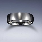 STYLE 1: Stainless Steel Brushed Comfort Fit Name Ring 6mm